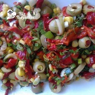 zeytin salatasi tarifi