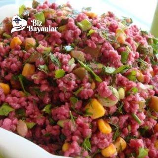 salgamli bulgur salatasi