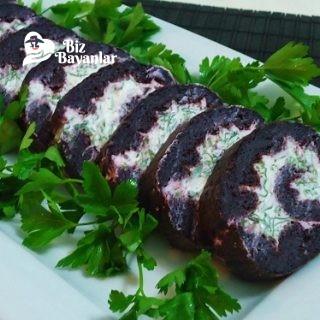 siyah havuclu rulo salata