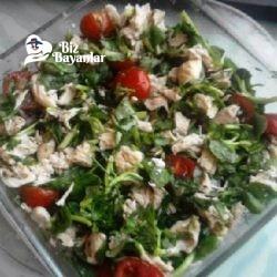 tavuklu yeşil salata tarifi