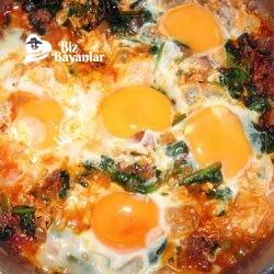 ispanakli yumurta tarifi