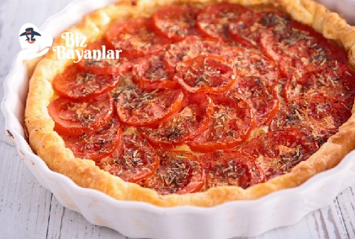 domatesli kiş tarifi