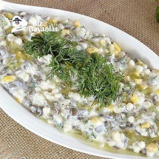 yogurtlu mercimek salatasi