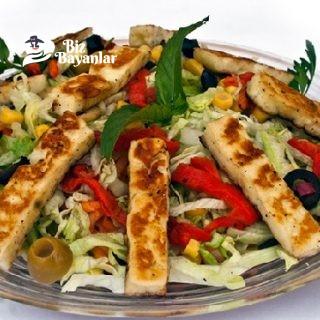 hellim peynirli salata