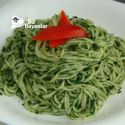 ispanakli spagetti tarifi